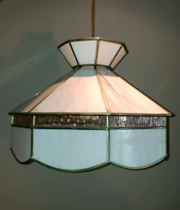 Vintage Stained Glass Hanging Ceiling Pendant Light