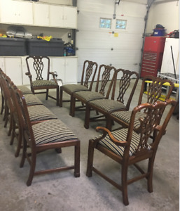 Dining Rooms Chairs 10 Beauutiful Quality, Excellent Condition