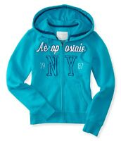 """Lot of 2 NEW Aeropostale hoodies both Blue size M chest 37-38"""""""