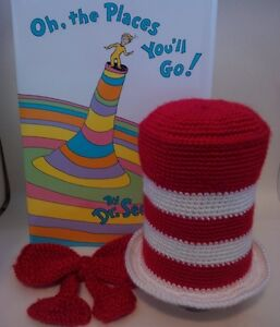 Red and White Cat in the Hat with Bow Newborn Photo Prop Peterborough Peterborough Area image 3