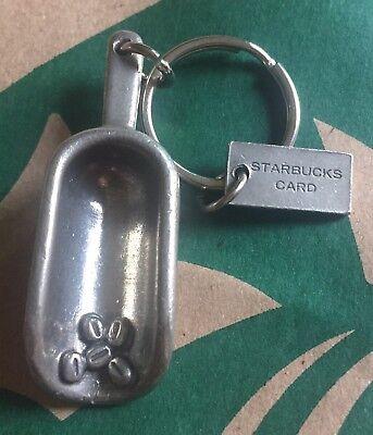RARE STARBUCKS COFFEE Low-down KEYCHAIN CARD PEWTER METAL KEY BEANS