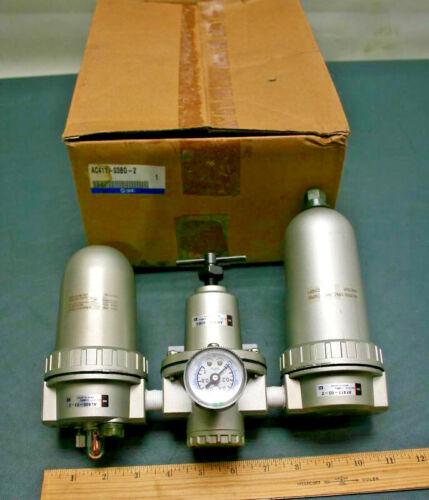 SMC Filter Regulator & Lubricator ½ in (AC411-03BG-2)