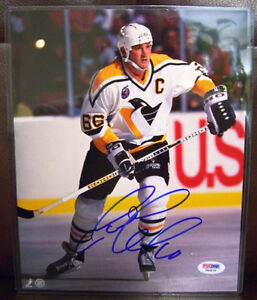 Pittsburgh Penguins MARIO LEMIEUX Signed Autograph COA PSA/DNA