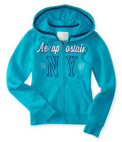 Lot of 2 Brand NEW Aeropostale hoodies Blue M chest 37-38""