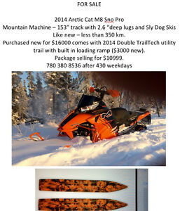 Snowmobile and Trailer For Sale Yellowknife Northwest Territories image 1