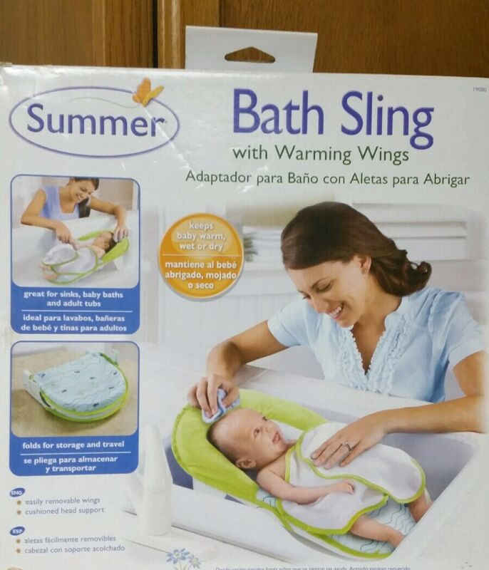 Summer Infant Baby Bath Sling Warming Wings Sink Adapter Fold Storage NEW