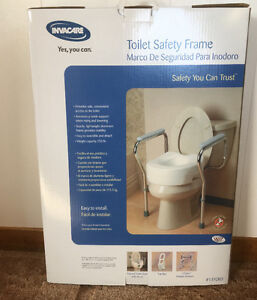Toilet seat frame and back brace