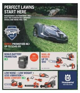 2018 Husqvarna Spring Equipment - Ride Ons Trimmers & More