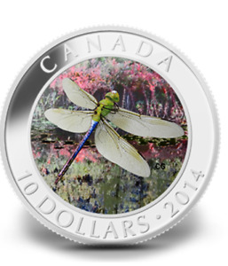 RCM - 2014 Green Darnier Dragonfly - $10.00 coin