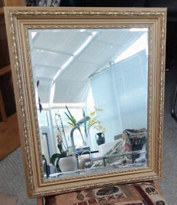 Mirror with gold frame, classy and elegant only $30