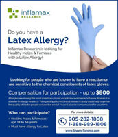 Volunteers Needed for Latex Allergy Study