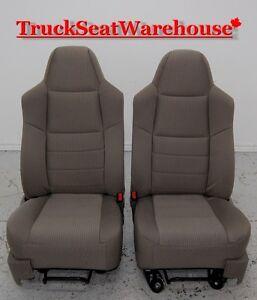 Ford F250 1999-2009 Superduty truck cloth front seats F350 F450