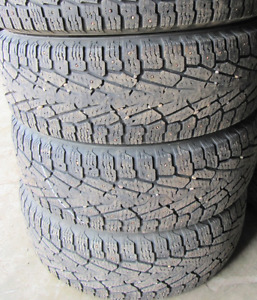 17 inch tires —4 of them—LT265-70-17(75 PERCENT TREAD) They are