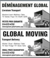 DEMENAGEMENT MOVING DELIVERY PIERREFONDS ROXBORO