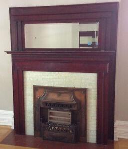Antique bronze fireplace insert
