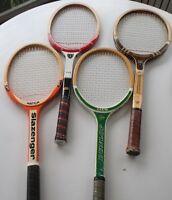 Raquettes de tennis anciennes en bois pour collectionneurs