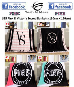 Pink & Victoria Secret Blankets	 (4 Options)