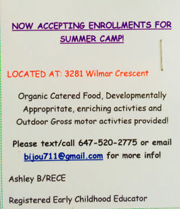SUMMER CAMP- AFFORDABLE HOME CHILDCARE