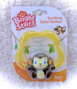 NEW Bright Starts Soothing Safari Monkey Teether Chilled Chilly