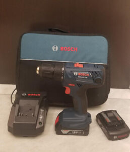 Bosch 18V Compact 1/2-inch Drill/Driver Kit with 2 Batteries