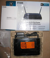 RARE: D-LINK DIR-632 8-port ethernet wireless-N router with USB