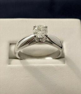 14k white gold .50ct. diamond engagement ring^Certified --$3,800