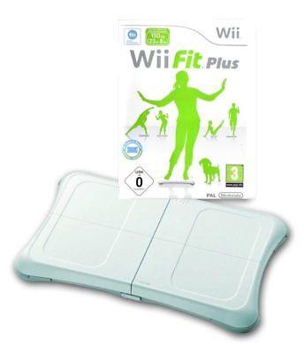 White Wii Fit Balance Board & Wii Fit Plus Game Nintendo Wii & Wii U | GENUINE