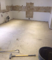 """FLOOR REMOVAL! WE GOT THIS! """"DYNASTY DEMO""""  289.456.4083"""