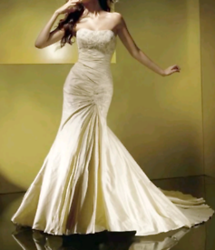 Wedding dress silk designer