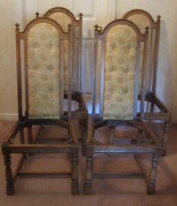 Four Vintage Chairs For Up-cycling Project
