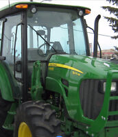 JOHN DEERE 5075M PREMIUM CAB UTILITY TRACTOR ONLY 17 HOURS