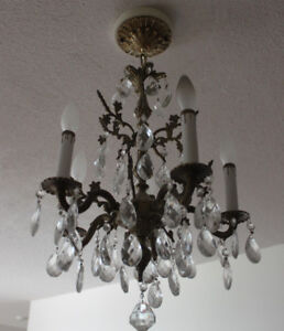 Rare Elegant Crystal Chandeliers In Excellent Condition
