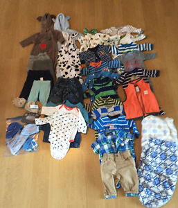 Large lot of baby boy clothes