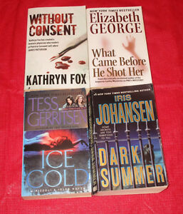 4x assorted paperback novels