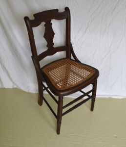 Antique Cane Seat Dining Chairs (Set of 6)