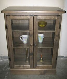 Display cabinets, Made in BC, 10 stains and handles, From $299