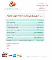 Accounting, bookkeeping and income tax filing services