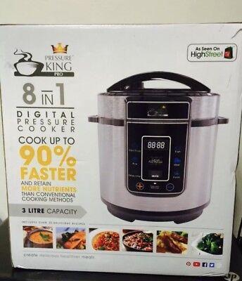 Pressure King Pro (3L) 8-in-1 Digital Pressure Cooker Silver RRP £49.99