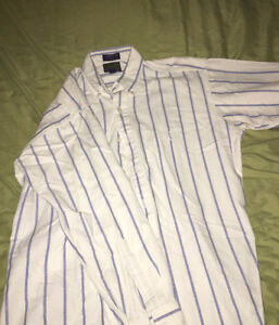 Chaps by ralph lauren striped white long sleeve