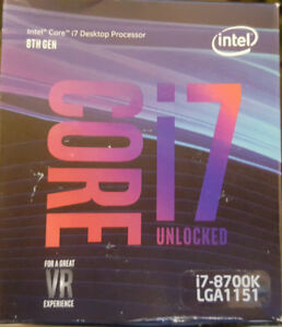 New Intel i7 8700K, i5 8600k LGA 1151 Coffee Lake warranty