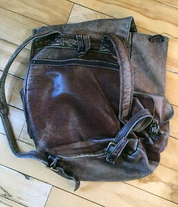 Black Leather Backpack ANOTHER PRICE REDUCTION