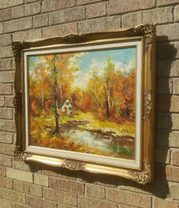 Walter Pranke original oil painting- Canadian artist- Fall scene