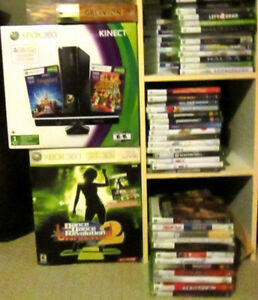 large Xbox 360 collection for sale or trade (console, games)