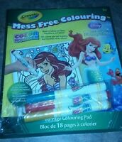 Crayola Mess Free Color Wonder Disney Mermaid 18 Sheets 3 Marker