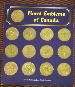 Collector's Medallion Set  - Floral Emblems of Canada