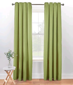 Two sets of 90 x 90 eyelet curtains