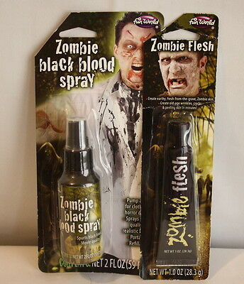Zombie Flesh Makeup and Zombie Black Blood Spray Costume Stage Makeup