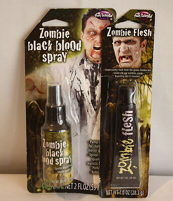 Zombie Flesh Makeup (Zombie Flesh Makeup and Zombie Black Blood Spray Costume Stage)