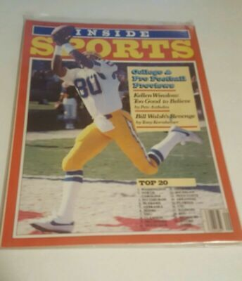 INSIDE SPORTS SEPTEMBER  1982 PRO AND COLLEGE FOOTBALL PREVIEW WASHINGTON # 1