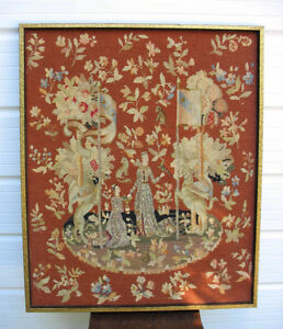 Needlepoint Tapestry, Hooked Rugs & Wall Hangings
